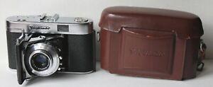 Voigtlander VITO IIa 35mm Camera w/Color-Skopar 50mm 3.5 Lens, Case, Manual