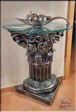 Griechischer Telefontisch Antik Blumentisch Beistelltisch Glastisch Tisch Säule