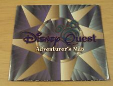 1990's TRAVEL Brochure 'WALT DISNEY WORLD' Disney QUEST Adventurer's MAP~