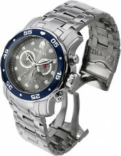 New Men's Invicta 80059 Pro Diver Chronograph Grey Dial Stainless Steel Watch