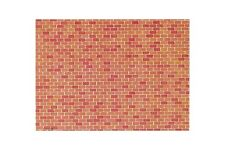 Faller 170608 HO 1/87 Plaque de mur, Brique - Wall card, Red brick