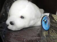 "Sea World 8"" WHITE SEAL PUP Plush Stuffed Animal EXCELLENT"
