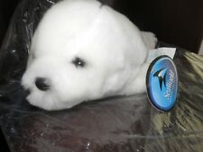 "Sea World 8"" WHITE SEAL PUP Plush Stuffed Animal EXCELLENT"