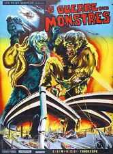 War Of Gargantuas Poster 02 Metal Sign A4 12x8 Aluminium