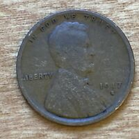FREE SHIPPING! 1917 S Lincoln Wheat Cent -104 Year Old Penny -San Francisco L8