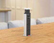 V8GSBU: Compact, Glossy Silver, Pop Up Power Point w/USB