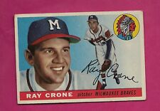 1955 TOPPS # 149 BRAVES RAY CRONE  EX+ CARD (INV# A5022)