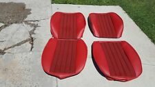 PORSCHE SEAT KIT 911 912 NEW UPHOLSTERY KIT GERMAN BLK/RED HOUNDS TOOTH NEW