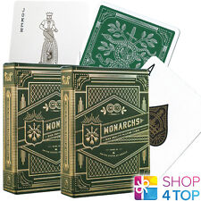 2 DECKS MONARCHS THEORY 11 PLAYING CARDS GREEN GOLD MAGIC TRICKS SEALED NEW