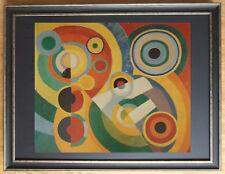 Abstract wall art, Rhythm by Robert Delaunay, 60x80cm frame
