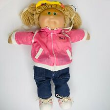 Vintage 1878 1982 Cabbage Patch Kids Doll Blonde Hair Green Eyes Pierced Ears