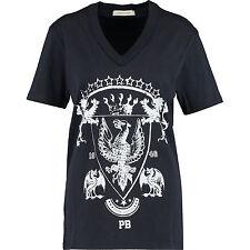 50% OFF Balmain Blue  V-neck T-shirt L slim fit 100% cotton