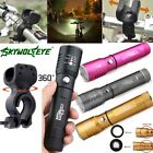 Zoomable Adjustable Focus Flashlight 15000LM 3mode T6 LED 18650 Hiking Torch