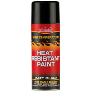 High Heat Resistant Black Spray Paint 600 Degree 400ml Stove Fire BBQ Exhausts