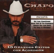 El Chapo De Sinaloa 15 Grandes Exitos Con Acordion  CD Nuevo Sealed