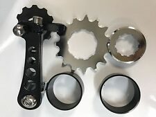 BICYCLE SINGLE SPEED BICYCLE CASSETTE CONVERSION KIT COGS CHAIN GUIDE SPACERS