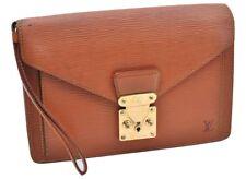 Authentic Louis Vuitton Epi Pochette Sellier Dragonne Clutch Bag Brown LV 66296