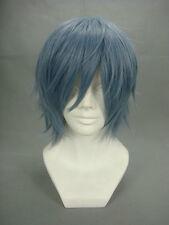 Togainu no Chi True Blood Kamina Akira Cosplay Wig Mixed blue smoke