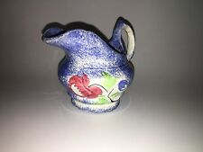 Staffordshire Blue Spatterware Spatter Rose Creamer Ca. 1830
