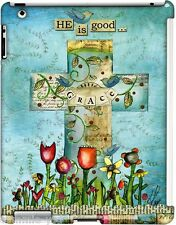 iPad 2 3 4 Cross Inspirational GRACE Snap on Case Art by Lisa Kaus New $38