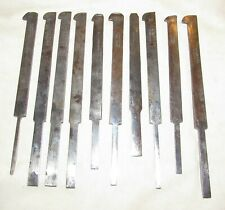 New Listingmixed lot 10 plough plane cutting irons woodworking tools