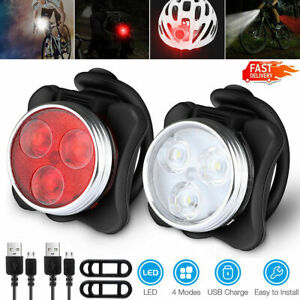 Super Bright Bike Light Set,  USB Rechargeable Bicycle Lights,  IPX4 Waterproof