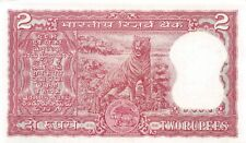 India 2 Rupees, 1977-1982 P-53e Letter B Tiger Unc                     2/IND70CY