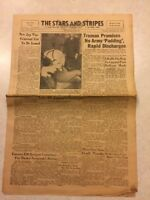 Stars and Stripes Newspaper Sept 20 1945 Truman Promises No Army Padding
