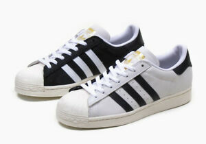New Adidas Originals Superstar Shoes Athletic Casual Split Cloud White-Black SZS