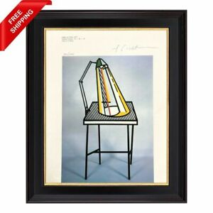 Roy Lichtenstein - Lamp on Table, Original Hand Signed Print with COA