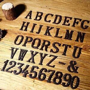 Retro Cast Iron Alphabet Letter Door Numbers Sign Address Cafe DIY Wall Plaque