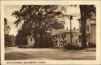 Salisbury CT Main St. Postcard