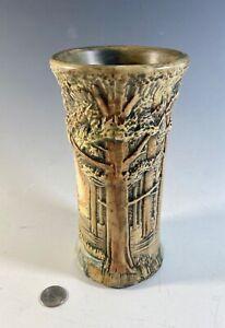 """Weller Art Pottery Forest Vase 8"""""""