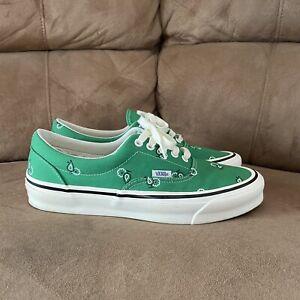 Vans Vault OG Era LX Paisley Green Size 9