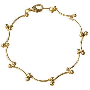 Brand New Womens Gold plated Sasanami Chain Bracelet 19cm