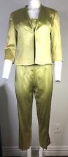 Alberto Makali 3-Piece Jacket  Outfit Chartreuse Size 8 Snake Print      2381