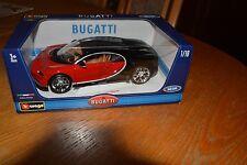 Bugatti Chiron rot/schwarz 1:18 neu