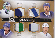 14-15 The Cup Henrik Daniel Sedin Ryan Miller Kassian /5 Quads Patch 2014