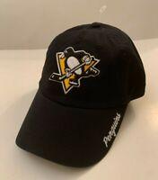 🏒 Pittsburgh Penguins NHL Adjustable Black Hat w/ Penguins Name One Size New 🏒