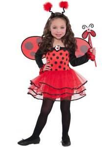 Child Ladybird Ballerina Bug Tutu Costume Kids Girls Fancy Dress Outfit Age 3-6