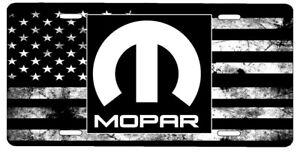 New Custom American Flag Tactical Black And White Mopar Vanity License Plate