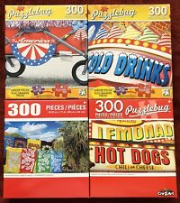 "Lot of 4 Cra-Z-Art Puzzlebug 300 Piece Jigsaw Puzzles 18.25"" x 11"" Brand New"
