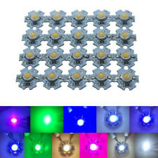 50x 0.5W 1W 3W 5V 3000K 6500K 20000K UV red green blue 380-840nm High power LED