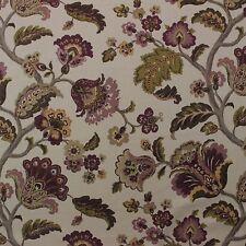 "P Kaufmann Granada Twilight Purple Floral Basketweave Cotton Fabric By Yard 54""W"