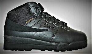 Mens Fila F13 F-13 Mid High Top WeatherTech Sneaker Boots Shoes Black/Black NEW