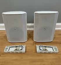 Electro Voice EVID-S5-2TB Surface Mount Speakers White Pair w/ Mounting Brackets