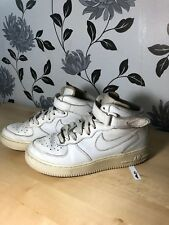 Nike Air Force 1 (AF1) '82 hi top trainers boots All White UK Size 5.5, EU 38.5