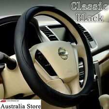 auto car steering wheel cover Luxury universal PU leather simple classic Black