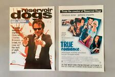 Reservoir Dogs/True Romance Lot of 2 Uk Promotional Postcards Quentin Tarantino