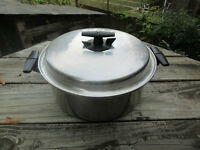 Vintage Vacumatic 5 Quart Stockpot #304, Made in USA, Waterless Multiply, GUC